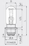 6V 15W S15d Flachkernwendel