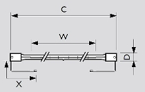 500W 120V IR X Clip Reflektor