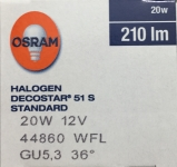 DECOSTAR 51S 20 W 12 V 36° GU5.3