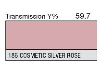 186 Cosmetic Silver Rose 1-inch