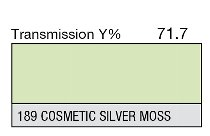189 Cosmetic Silver Moss 1-inch