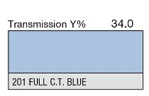 """201 Full C.T. Blue 60"""" 1-inch"""