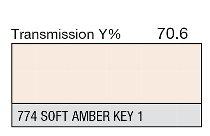 774 Soft Amber Key 1 1-inch