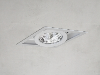 Variable Downlight 33W 3000K 230V Weiß 37°
