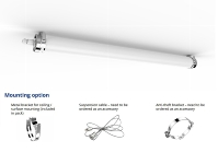 93113220 - LED Tubular TU-S-LD36-1200F40-120°