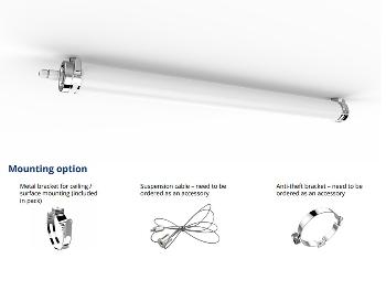 93113213 - LED Tubular TU-S-LS36-1200C40-80°
