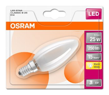 OSRAM ST CLAS B 25 FR 2.5 W/2700K E14