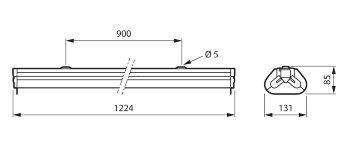 TMS030 2xT8 36W/TUV HFP