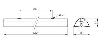 TMS030 1xT8 36W/TUV HFP R