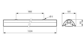 TMS030 2xT8 36W/TUV HFP R