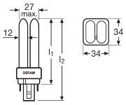 Osram DULUX D/E Kompaktleuchtstofflampe 13W 840