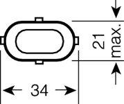 Osram Dulux S/E compact fluorescent lamp 9W/840 2G7
