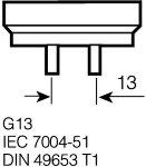 Osram Lumilux T8 L fluorescent tube 58W/827 G13