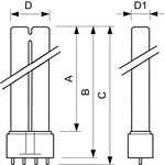 Philips PL-L Kompaktleuchtstofflampe  36W/840/4P 2G11